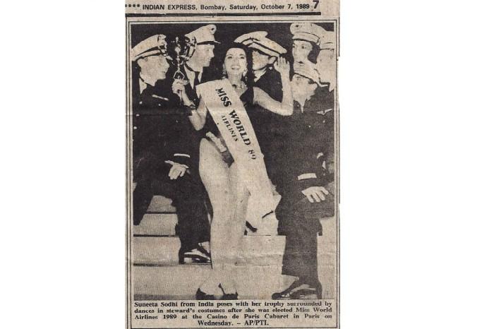 Suneeta Sodhi, Miss World Airlines. Image Source: Suneeta Sodhi