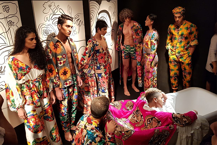 Bobo Calcutta's installation for Lakme Fashion Week's #GenderBender (Image source: Gaysi/Durga Gawde)
