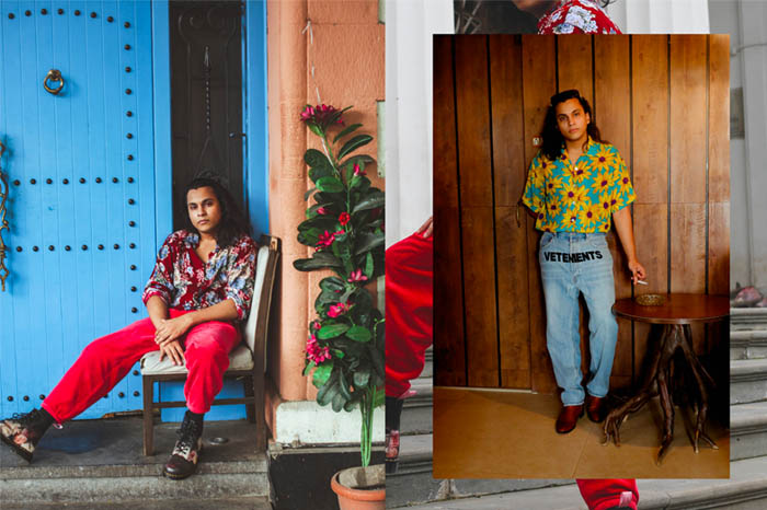 L-R: Maan (shirt 1 & shirt 2: Red Empress; pants 1: Red Empress). Photographed by Samrat Nagar (Instagram: @samrat.02)