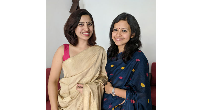 Priyangi Borthakur (L) and Joyee Mahanta (R)