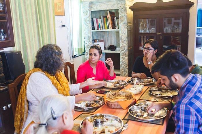 Relishing Kashmiri food in Pune.