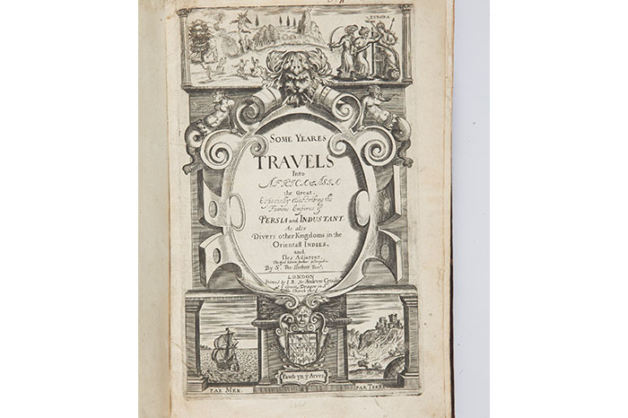 A travellogue about  Sir Thomas Herbert journeys across Africa, Persia and Asia along with illustrations. Published in 1665.