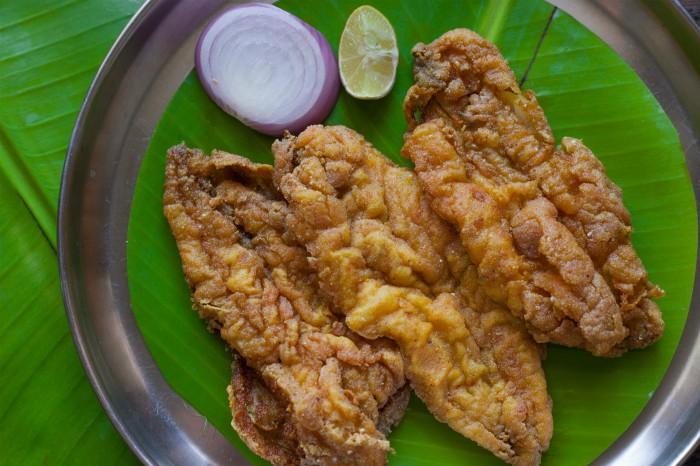 Bombil fry at Jai Hind Restaurant, Mumbai. Photographed by Rashi Arora for Homegrown