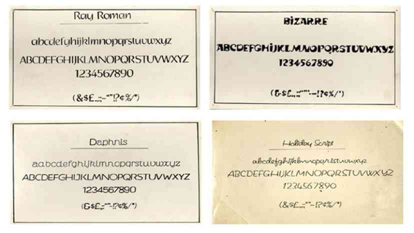 The Four Fonts invented by Satyajit Ray for the English Language