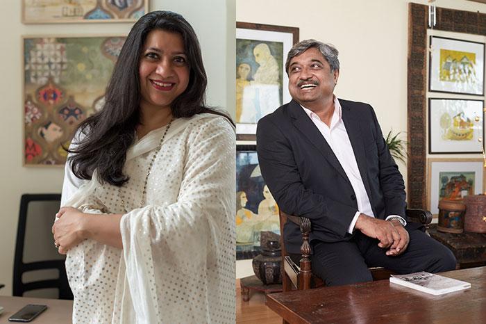 Pavitra Rajaram (L) and Paul Abraham (L)