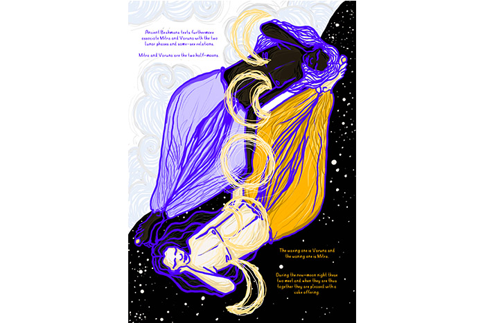Two Halves Of The Moon, Mitra and Varun by Siddhi Surthe, from 'For The Love Of God'. Courtesy of Gaysi Family
