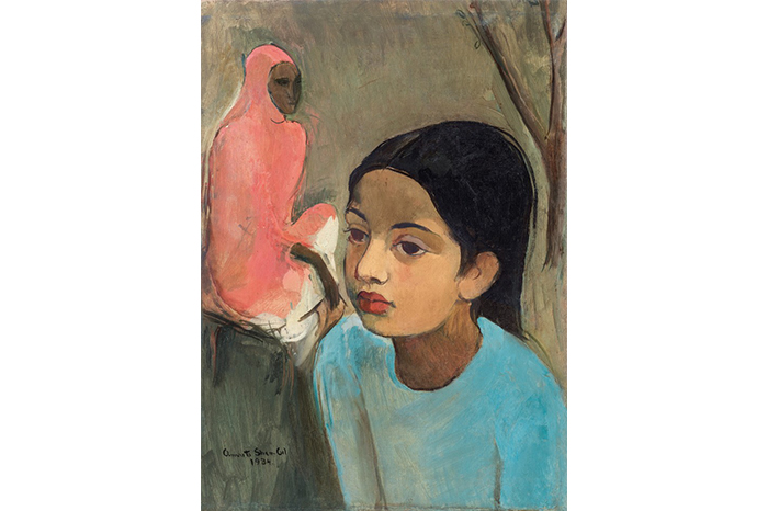'The Little Girl In Blue' painted by Amrita Sher-Gil in 1934. (Image source: Sotheby's)