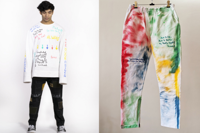 Hand painted pieces from Street wear label Toffle