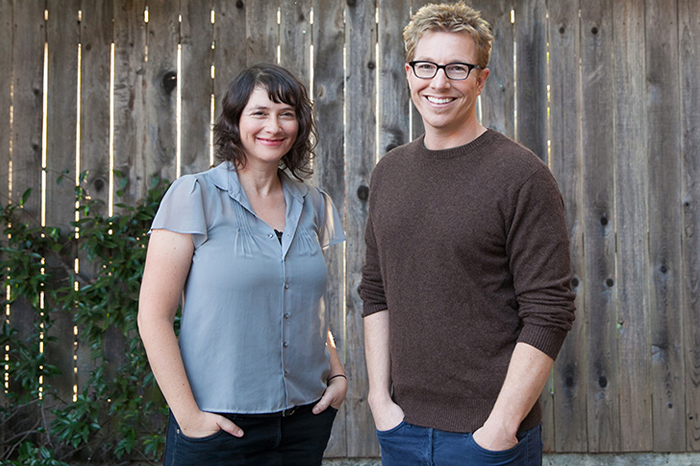 Lydia Daniller and Rob Perkins, founders of OMGYes